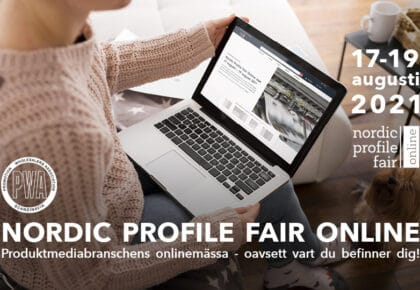 Nordic Profile Fair Online fortsätter digitalt på onlinemassan.com 17-19 augusti 2021